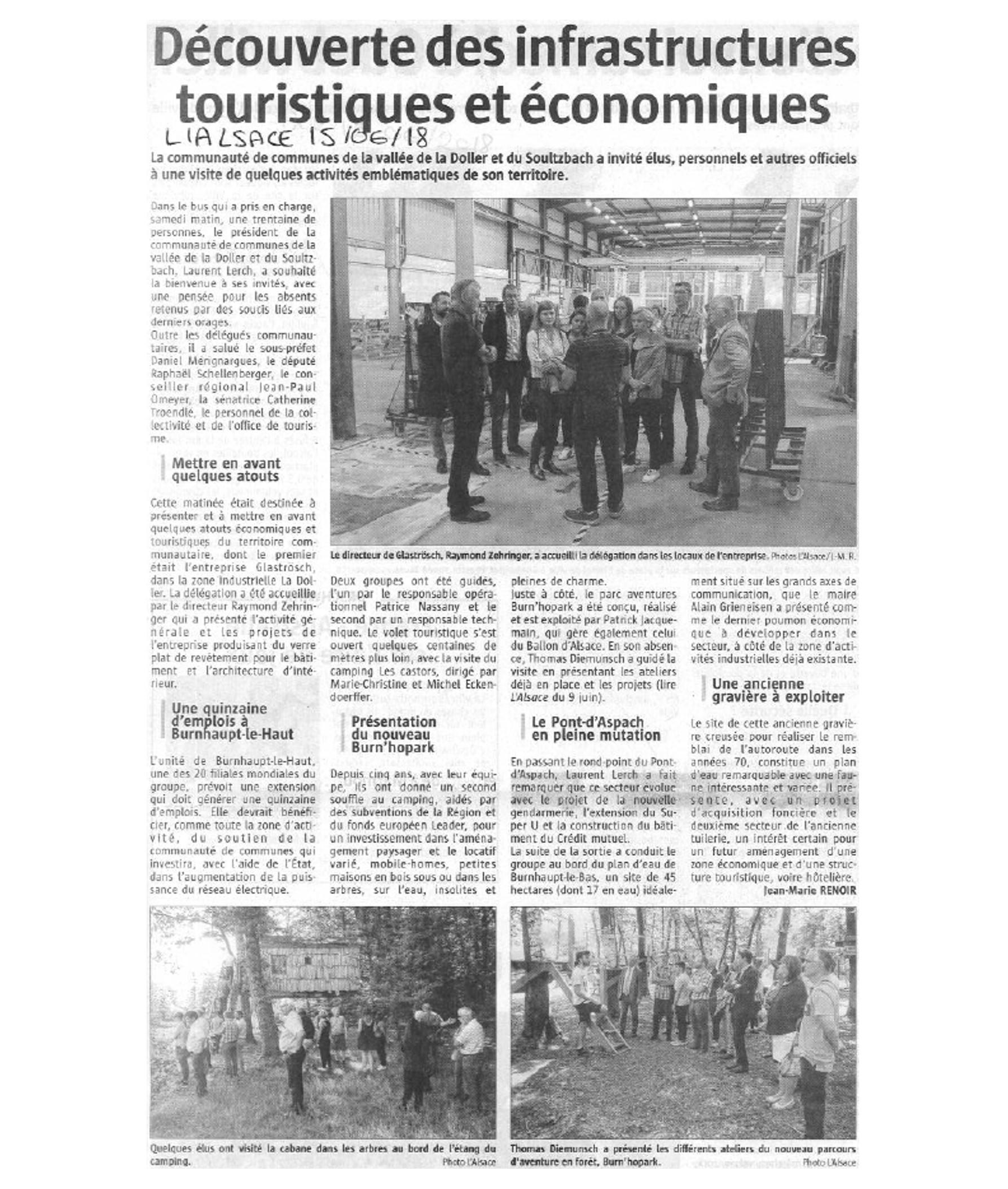 Découverte des infrastructures touristiques et économiques - L'Alsace (15-06-2018)