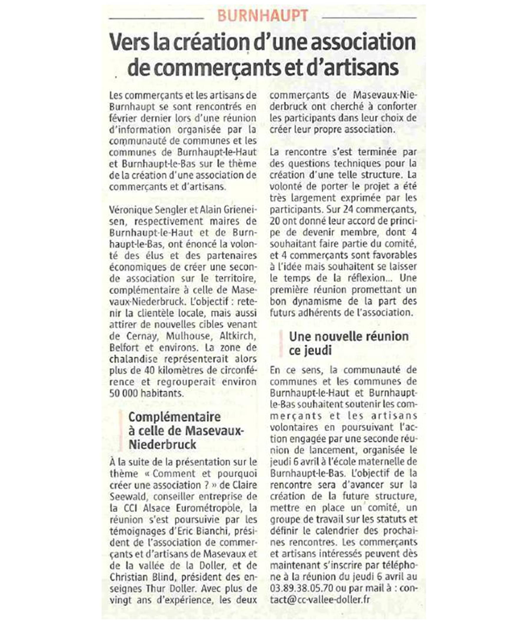 Vers la création d'une association de commerçants et d'artisans - L'Alsace (04-04-2017) (2)