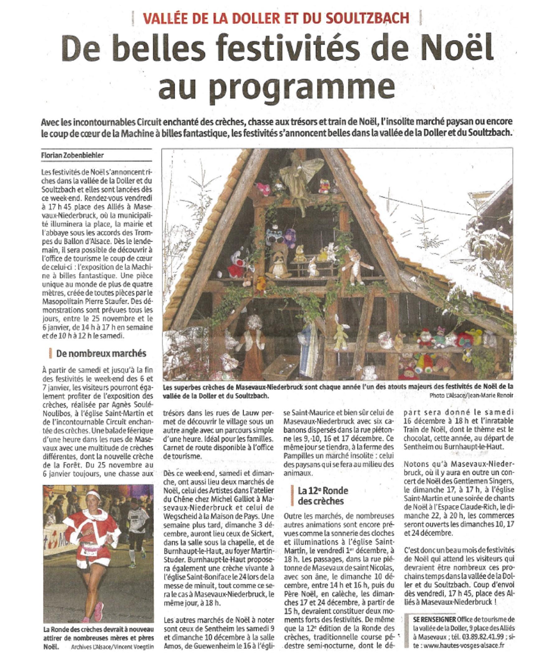 De belles festivités de Noël au pragramme - L'Alsace - 22-11-2017